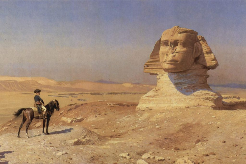Napoleon Bonaparte in front of the Sphinx. Jerome 1868